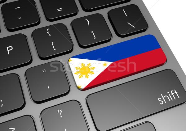 Filipinler klavye görüntü render kullanılmış Stok fotoğraf © tang90246