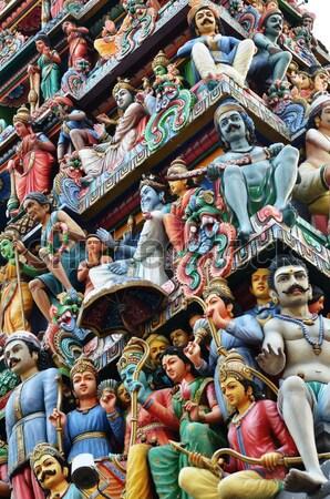 Tempel Singapore kleuren asia godsdienst bidden Stockfoto © tang90246