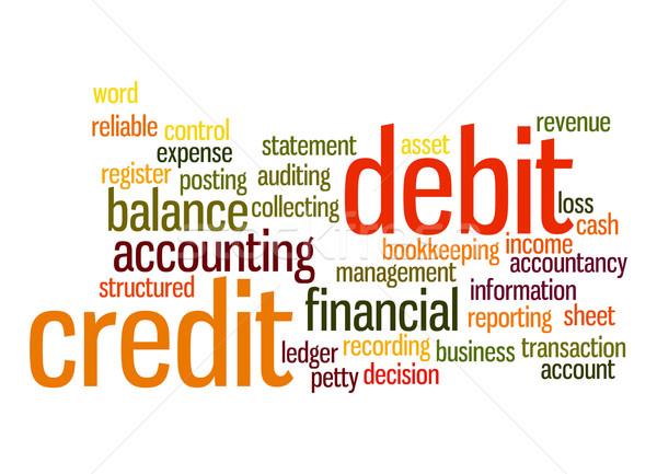 Crédito débito nube de palabras nube financieros contabilidad Foto stock © tang90246