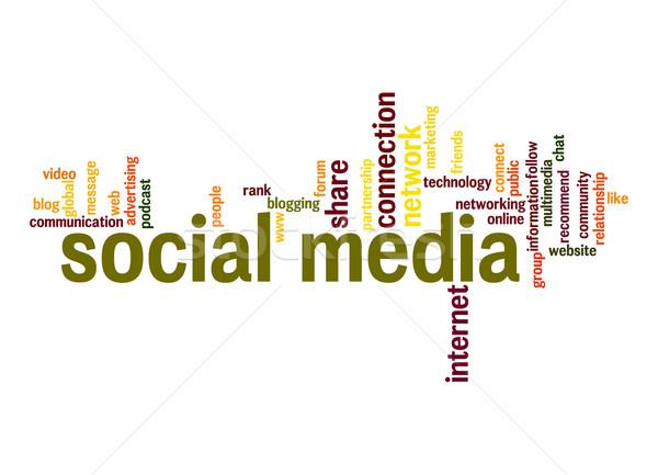 ソーシャルメディア 言葉の雲 デザイン 友達 にログイン 通信 ストックフォト © tang90246