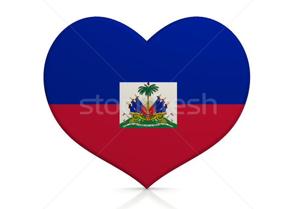 Haïti coeur fond Voyage pays concept Photo stock © tang90246