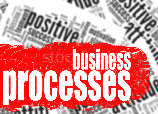 Stock photo: Word cloud business processes