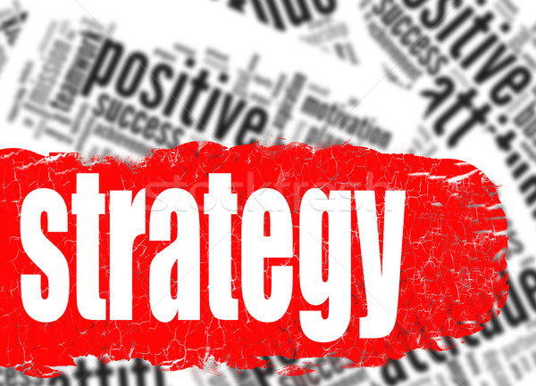 Word cloud strategy business sucess concept Stock photo © tang90246