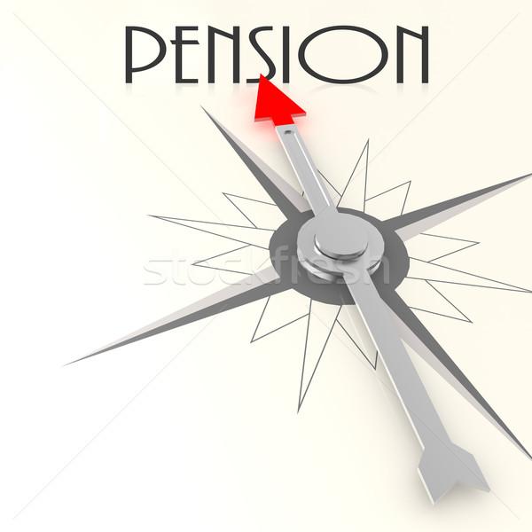 Boussole pension mot image rendu Photo stock © tang90246