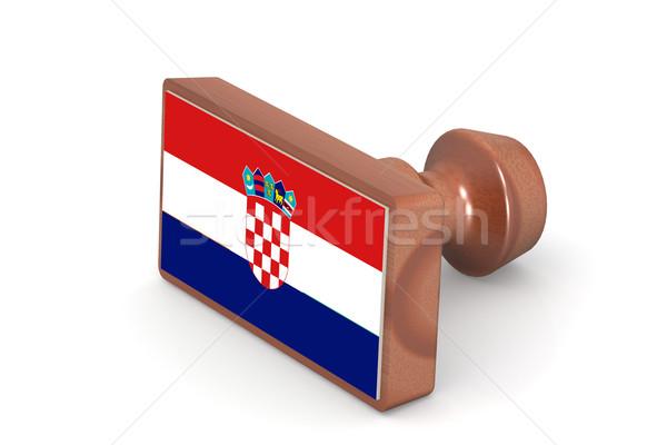Sello Croacia bandera imagen prestados Foto stock © tang90246