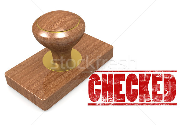 Checked wooded seal stamp Stock photo © tang90246