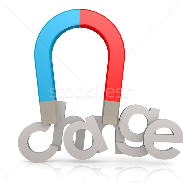 Magnet and change word Stock photo © tang90246
