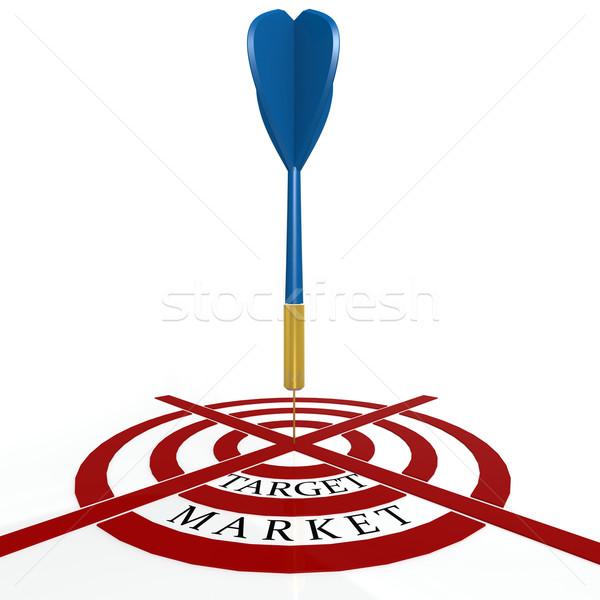 Dardo bordo objetivo mercado éxito flecha Foto stock © tang90246