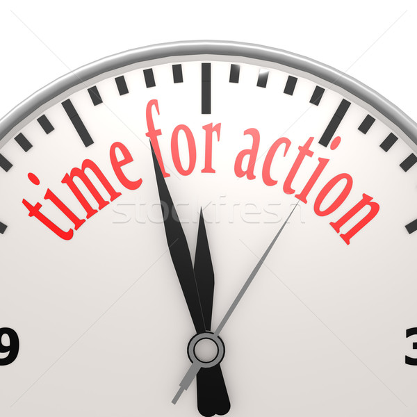 Time for action clock Stock photo © tang90246