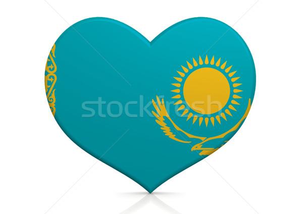Cazaquistão coração fundo viajar país conceito Foto stock © tang90246