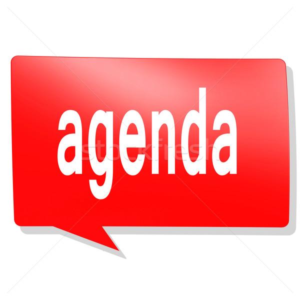 Agenda parola rosso fumetto immagine reso Foto d'archivio © tang90246