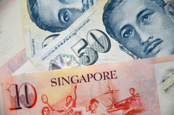 Detail of Singapore banknotes Stock photo © tang90246