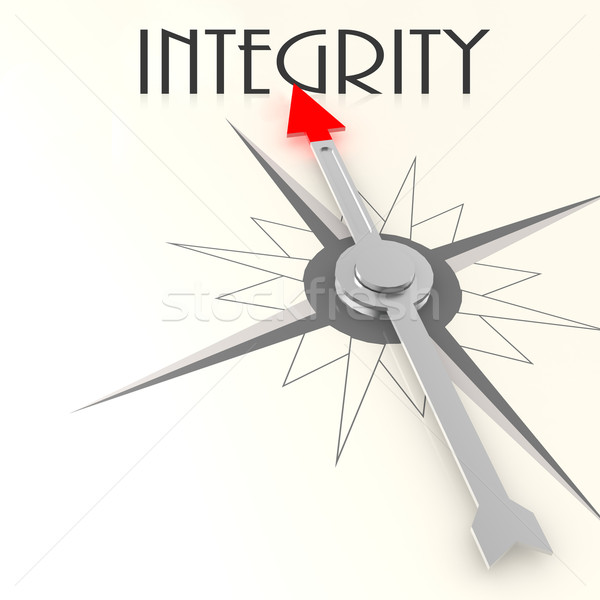 Compass with integrity word Stock photo © tang90246