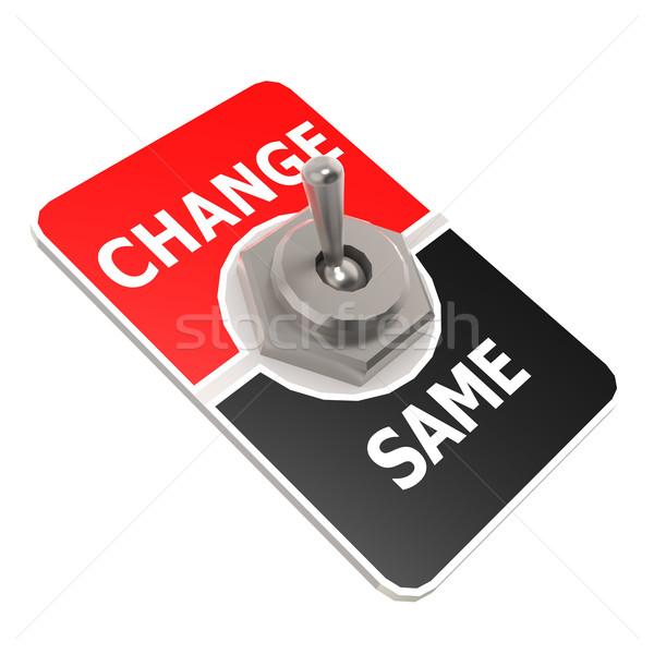 Change toggle switch Stock photo © tang90246