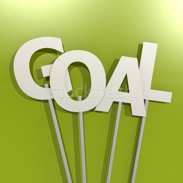 Goal word on green background Stock photo © tang90246