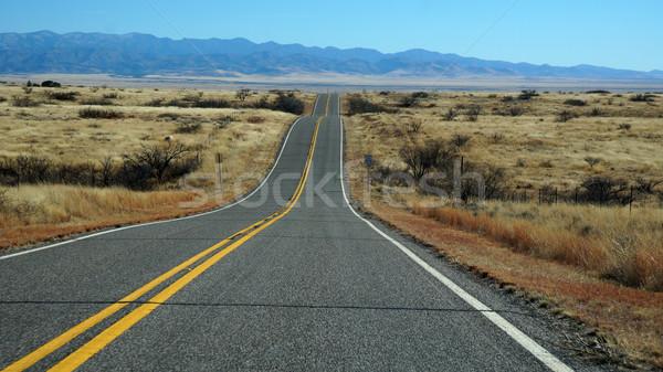 út Arizona égbolt természet sivatag utazás Stock fotó © tang90246