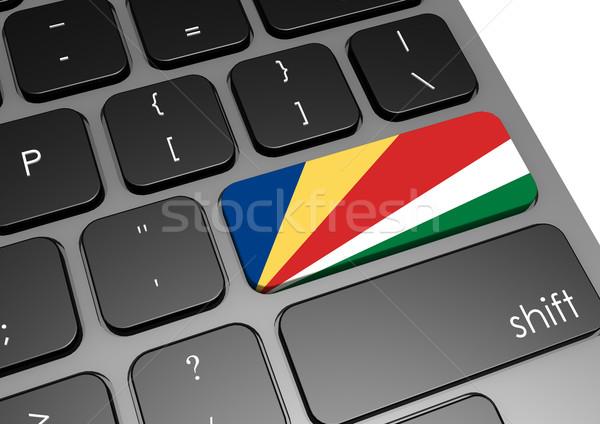Seyşeller klavye görüntü render kullanılmış Stok fotoğraf © tang90246