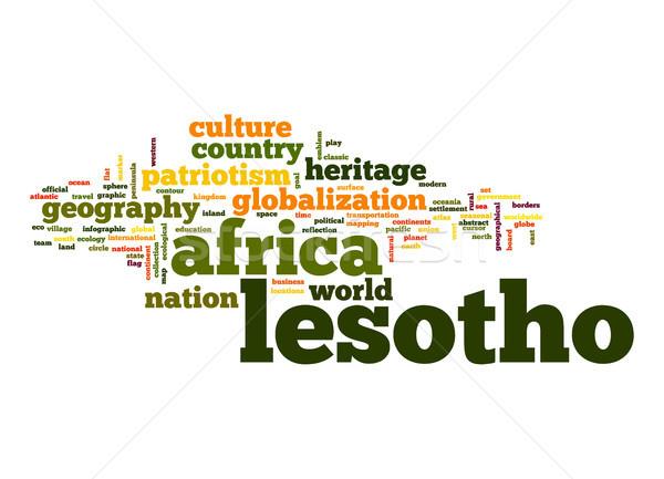 Lesotho nuage de mots affaires monde Afrique nuage Photo stock © tang90246