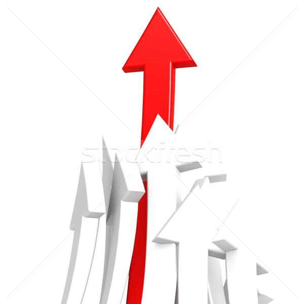 Rojo flecha éxito fondo signo grupo Foto stock © tang90246
