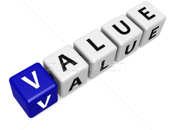 Niebieski wartość podpisania finansów kolor firmy Zdjęcia stock © tang90246