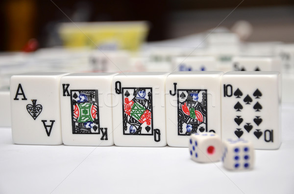 Mahjong set with royal flush Stock photo © tang90246