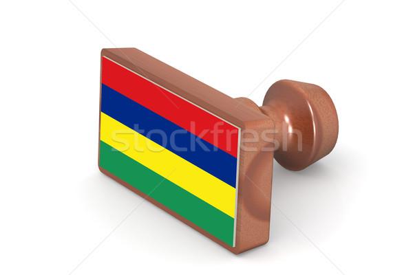 штампа Маврикий флаг изображение оказанный Сток-фото © tang90246