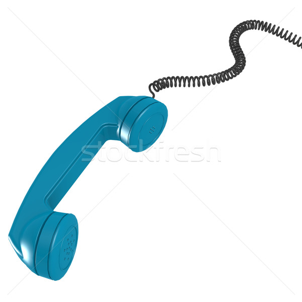 Blue telephone receiver Stock photo © tang90246