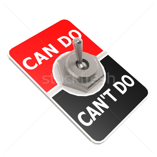 Can do toggle switch Stock photo © tang90246