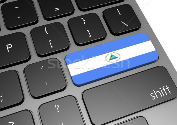 Nicaragua billentyűzet kép renderelt mű használt Stock fotó © tang90246