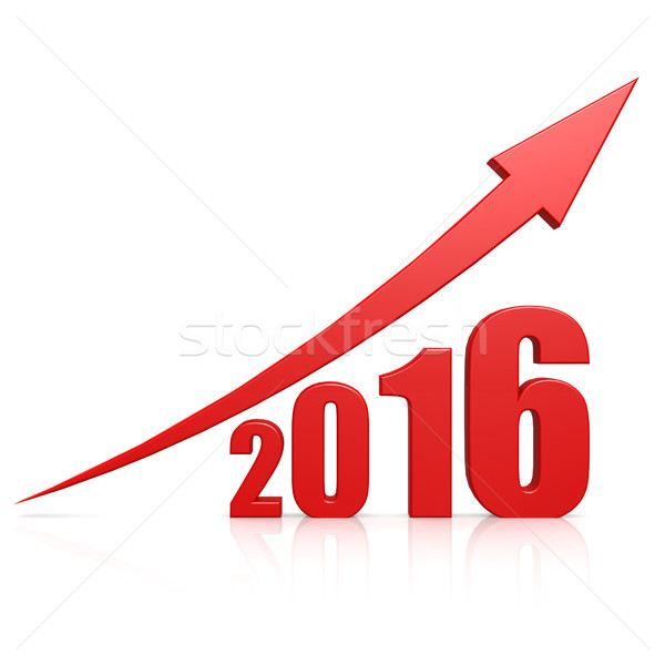 2016 growth red arrow Stock photo © tang90246