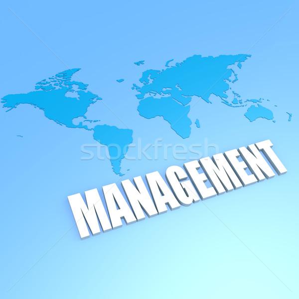 Management world map Stock photo © tang90246