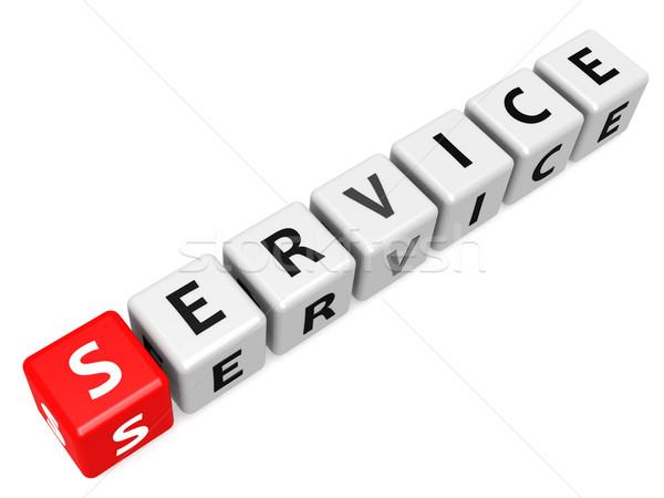 Szolgáltatás divatszó piros üzlet terv kereszt Stock fotó © tang90246