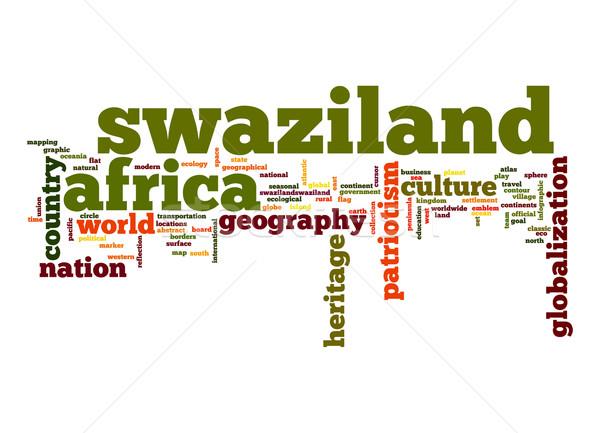 Stock photo: Swaziland word cloud