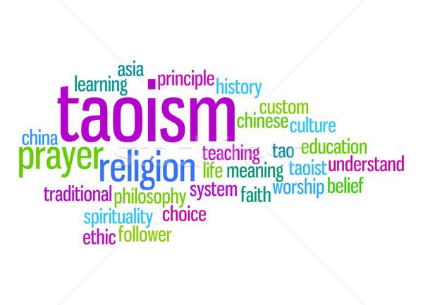 Taoism word cloud Stock photo © tang90246