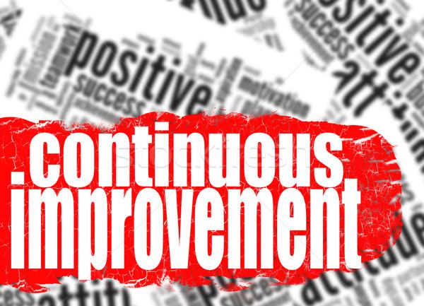 Continuous improvement word cloud Stock photo © tang90246