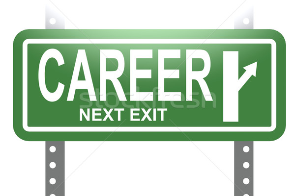 Career green sign board isolated Stock photo © tang90246