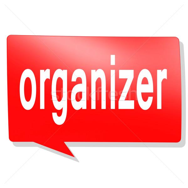 Organizzatore parola rosso fumetto immagine reso Foto d'archivio © tang90246