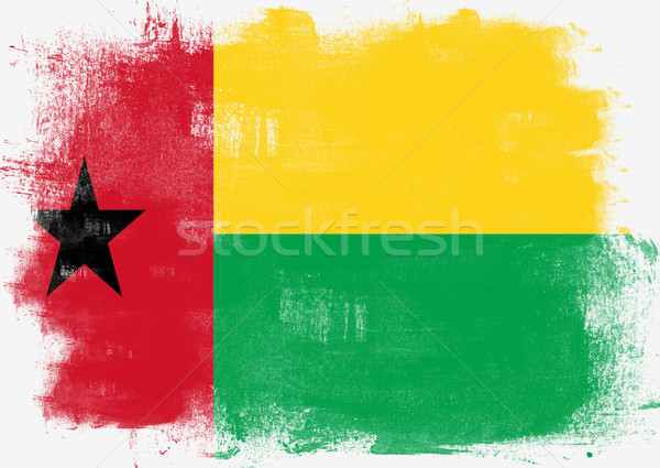 Flag of Guinea Bissau painted with brush Stock photo © tang90246