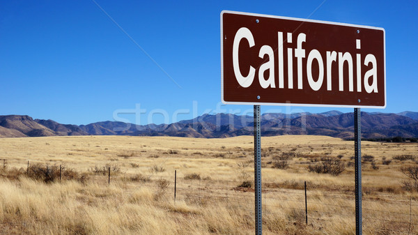 California brown road sign Stock photo © tang90246