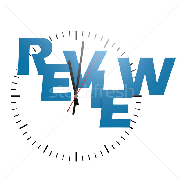 Review word with clock Stock photo © tang90246