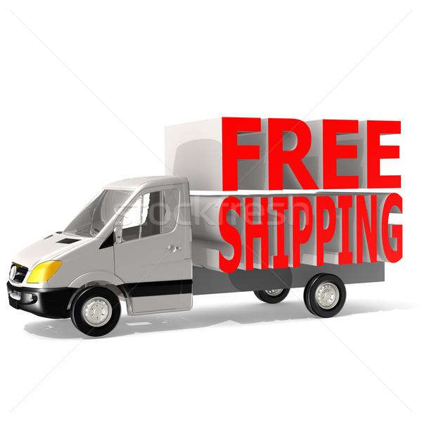 ücretsiz gönderim kamyonet trafik teslim motor oto Stok fotoğraf © tang90246