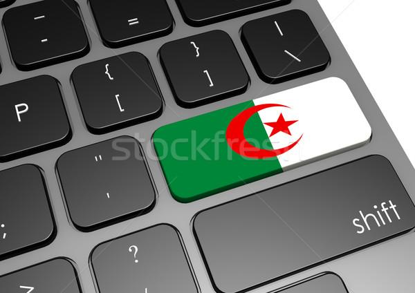 Algérie clavier image rendu utilisé Photo stock © tang90246