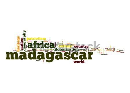 Madagascar nuage de mots affaires monde Afrique nuage Photo stock © tang90246