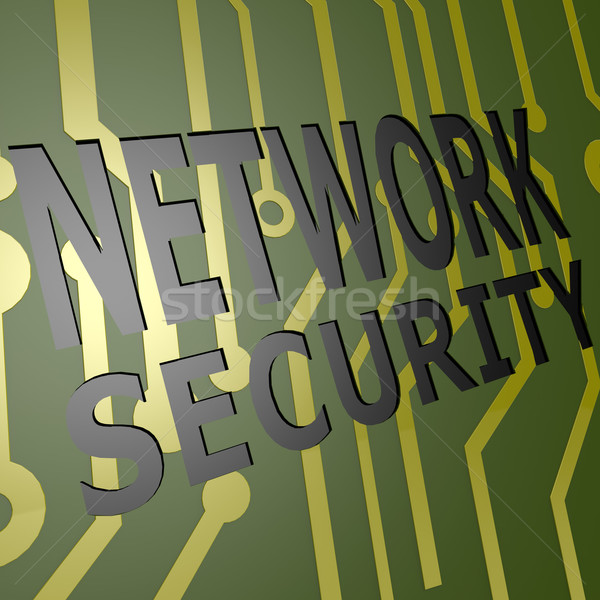PCB Board with network security Stock photo © tang90246