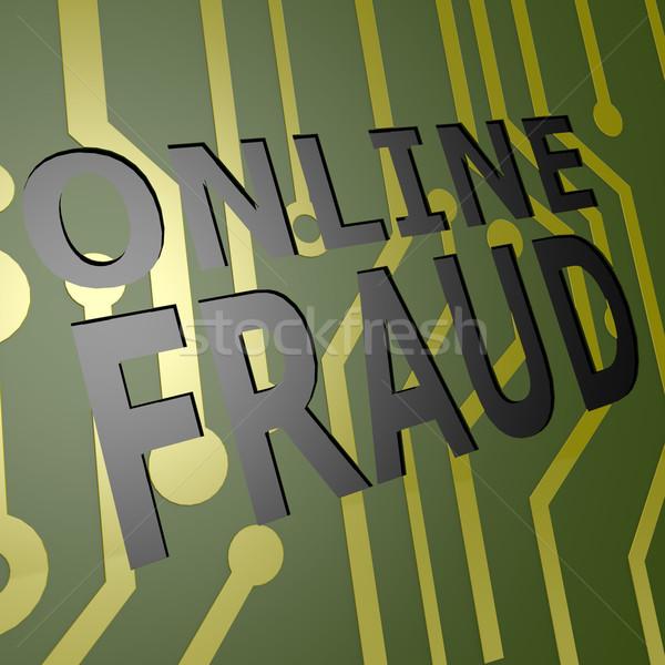 Boord online bedrog computer geld technologie Stockfoto © tang90246