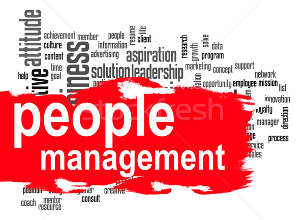 People management word cloud with red banner Stock photo © tang90246