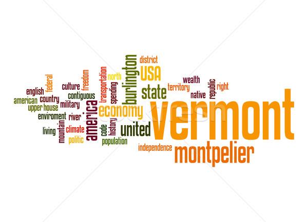 Vermont nuvem da palavra nuvem liberdade história gráfico Foto stock © tang90246