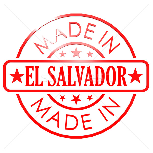 Made in El Salvador red seal Stock photo © tang90246