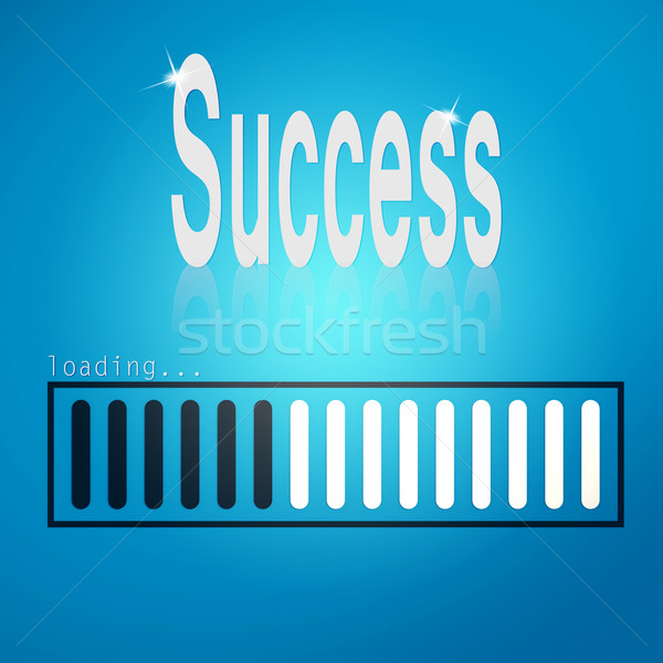 Success blue loading bar Stock photo © tang90246