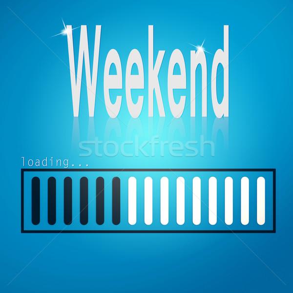 уик-энд синий Бар изображение оказанный Сток-фото © tang90246